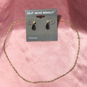 Jewelry - Vintage Gold-Tone Chain & Fashion Earrings